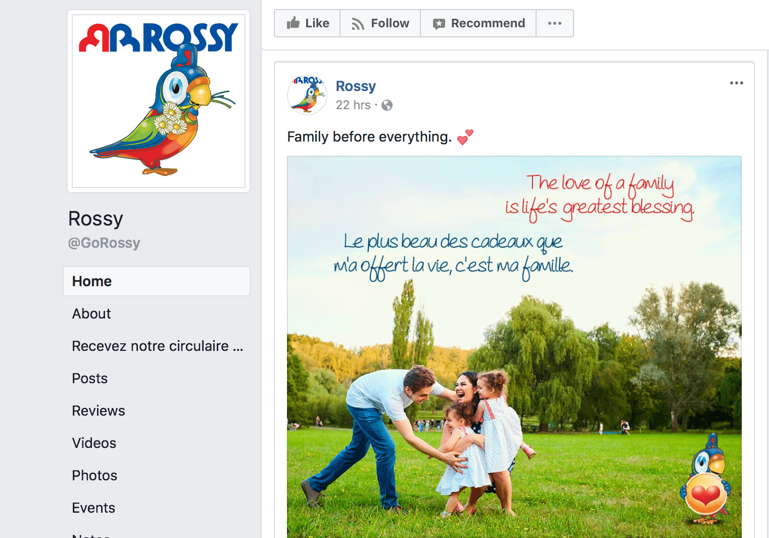 Facebook rossy - Marketing tips